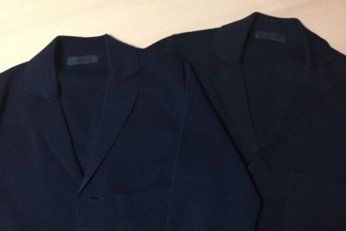ユニクロニットジャケット色比較