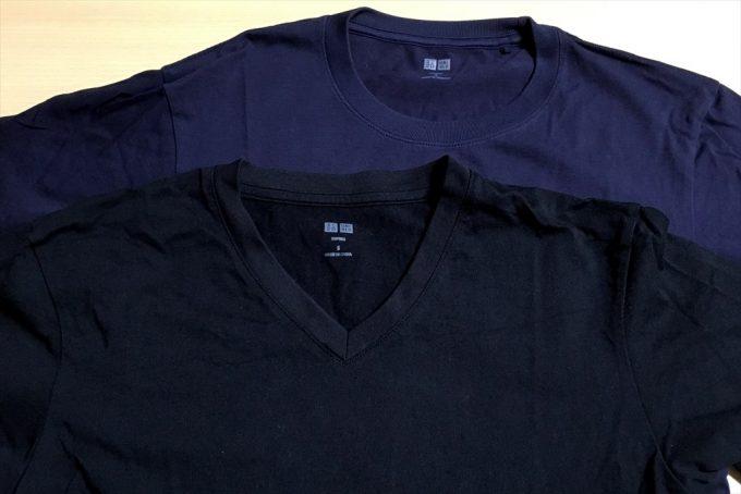 ユニクロのスーピマコットンTシャツネイビー