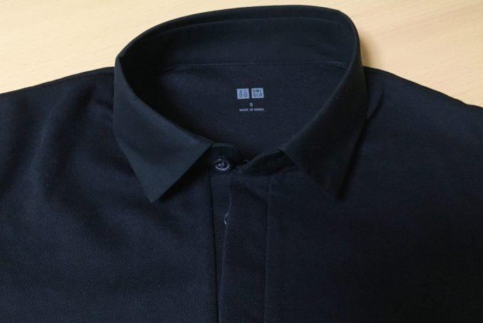 ドライコンフォートシャツカラーポロシャツの襟