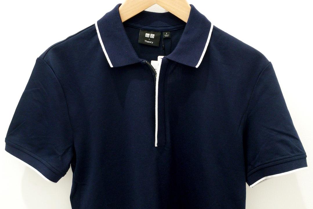 ユニクロとセオリーコラボのジップポロシャツ