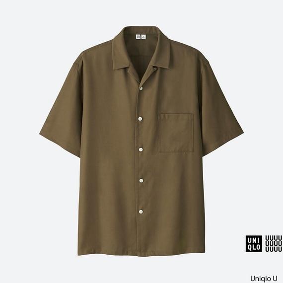 ユニクロユーのオープンカラーシャツ