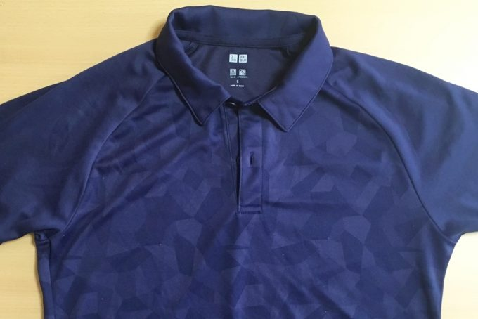 ユニクロのドライEXポロシャツ(ジオメトリックカモフラ)