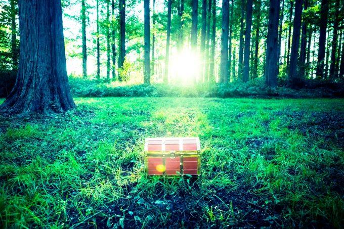 森にある宝箱