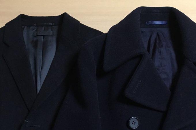 ユナイテッドアローズのPコートとユニクロのチェスターコート 外観