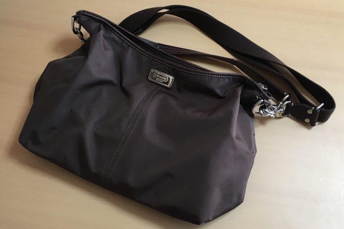 コーチのアウトレットで買ったバッグ