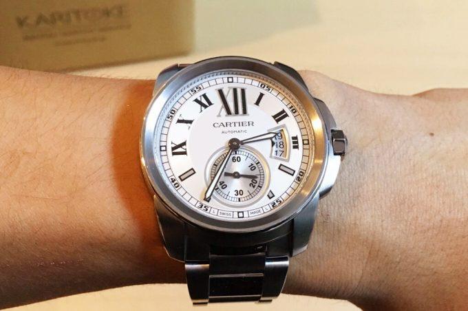KARITOKE(カリトケ)でレンタルした時計を装着