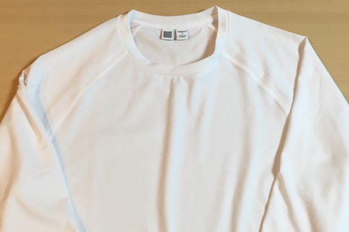 ユニクロユー2018春夏メンズ ウルトラストレッチドライクルーネックT(長袖) 正面