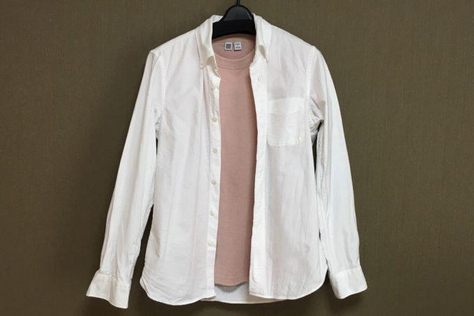 ユニクロユー2018春夏メンズ クルーネックT(半袖) シャツと合わせたコーディネート例