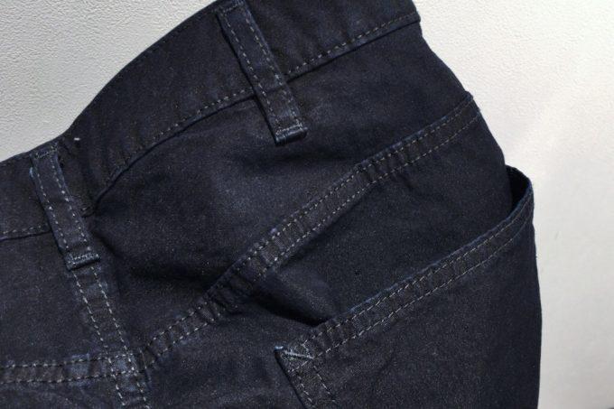 ユニクロユー2018春夏メンズ  ワイドフィットテーパードジーンズ 素材