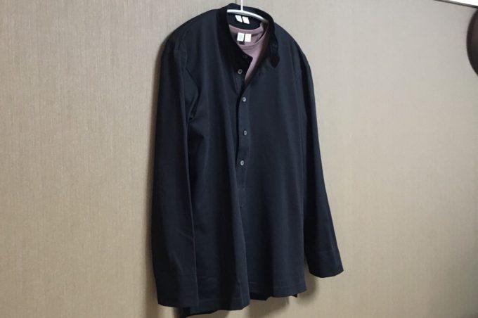 ユニクロユー2018春夏 スーピマコットンプルオーバーシャツ(長袖) 全体