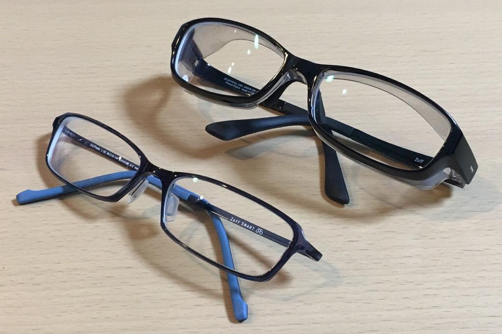 花粉ブロックメガネと普通のメガネ