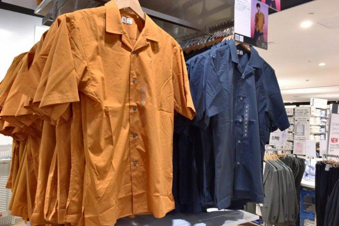 ユニクロユー2018春夏 オープンカラーシャツ