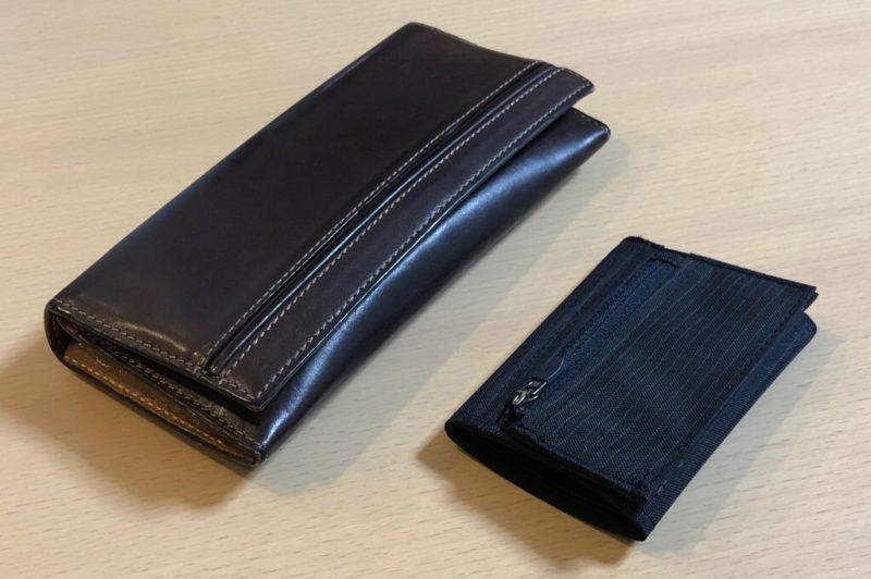 革財布とトレールワレット