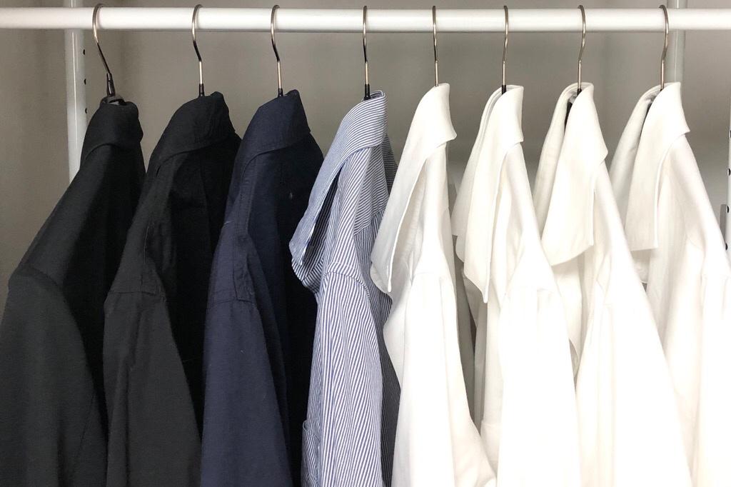 マワハンガー「シルエット41」にかけたシャツ類