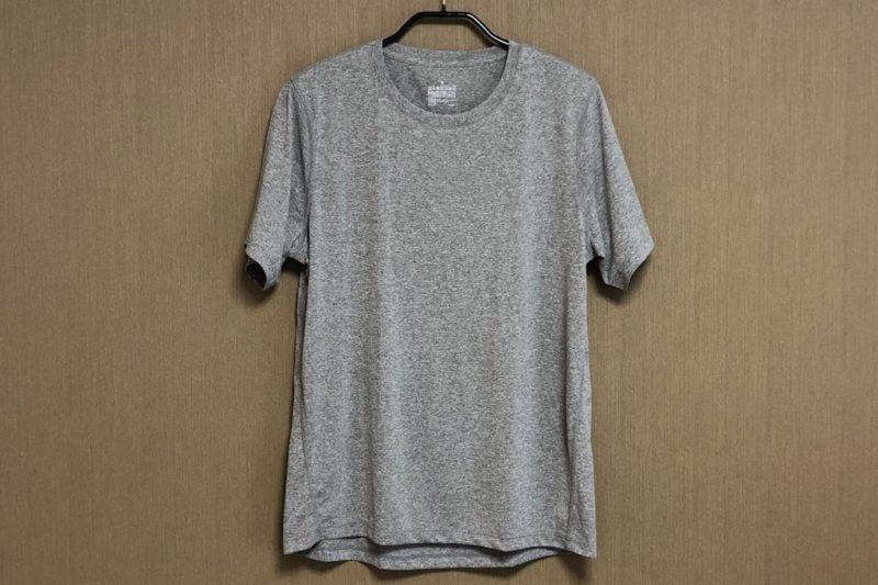 無印良品「吸汗速乾UVカット 半袖Tシャツ」正面