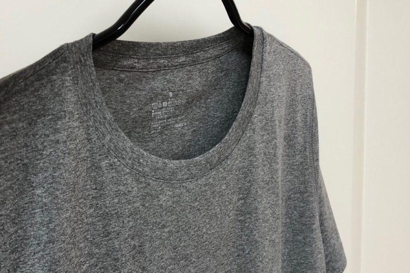 無印良品「吸汗速乾UVカット 半袖Tシャツ」素材アップ