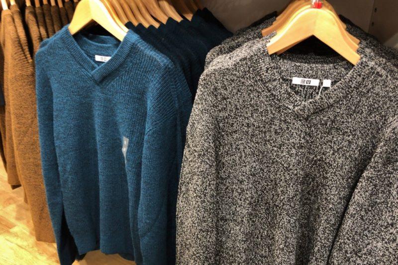 メランジVネックセーター(長袖)