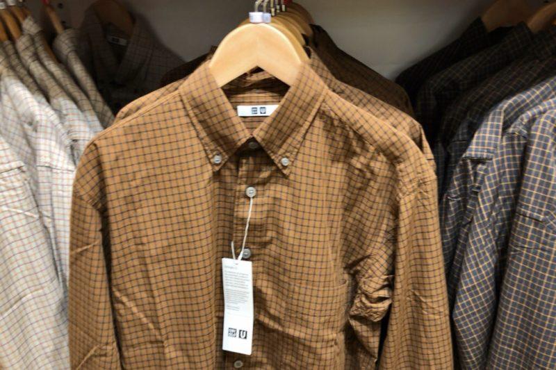 ワイドフィットチェックシャツ(長袖)