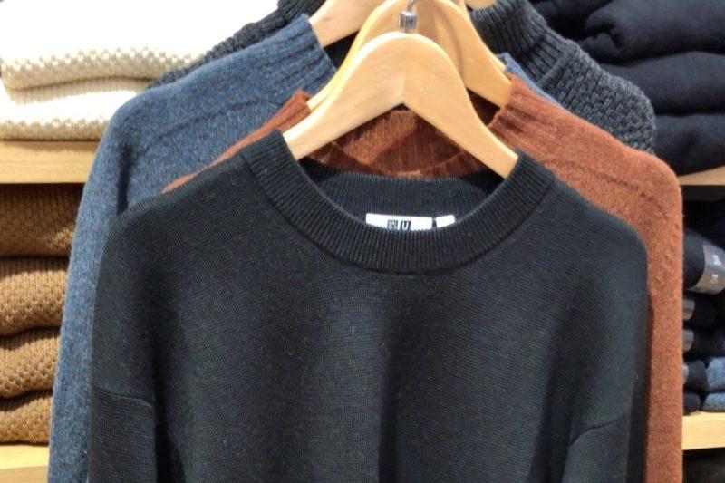 ミラノリブクルーネックセーター(長袖)