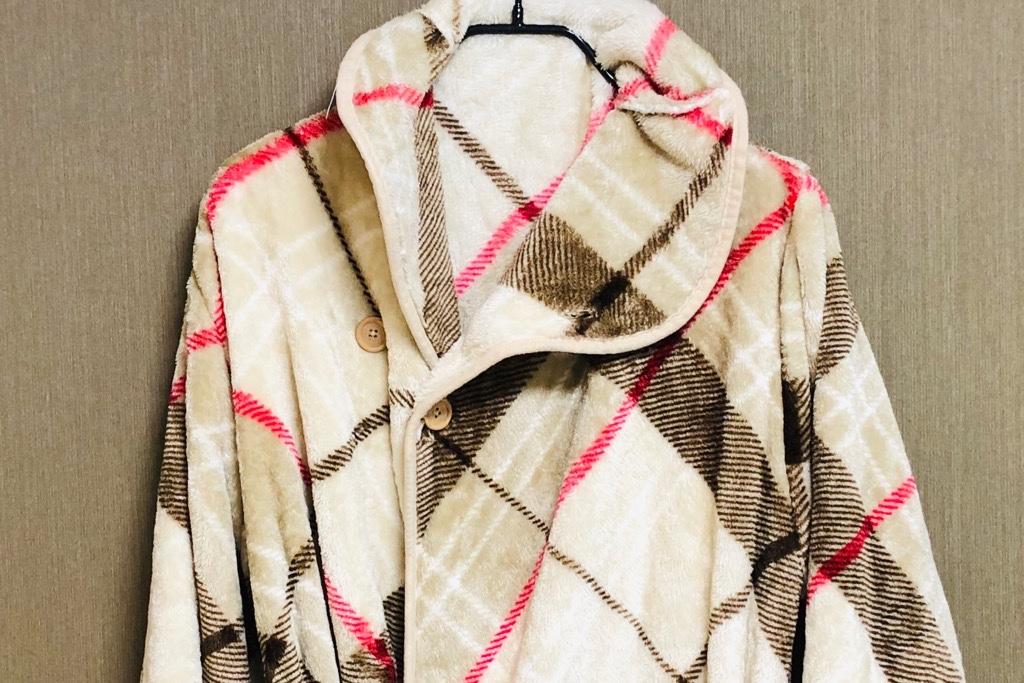 チェック柄の着る毛布『Groony』