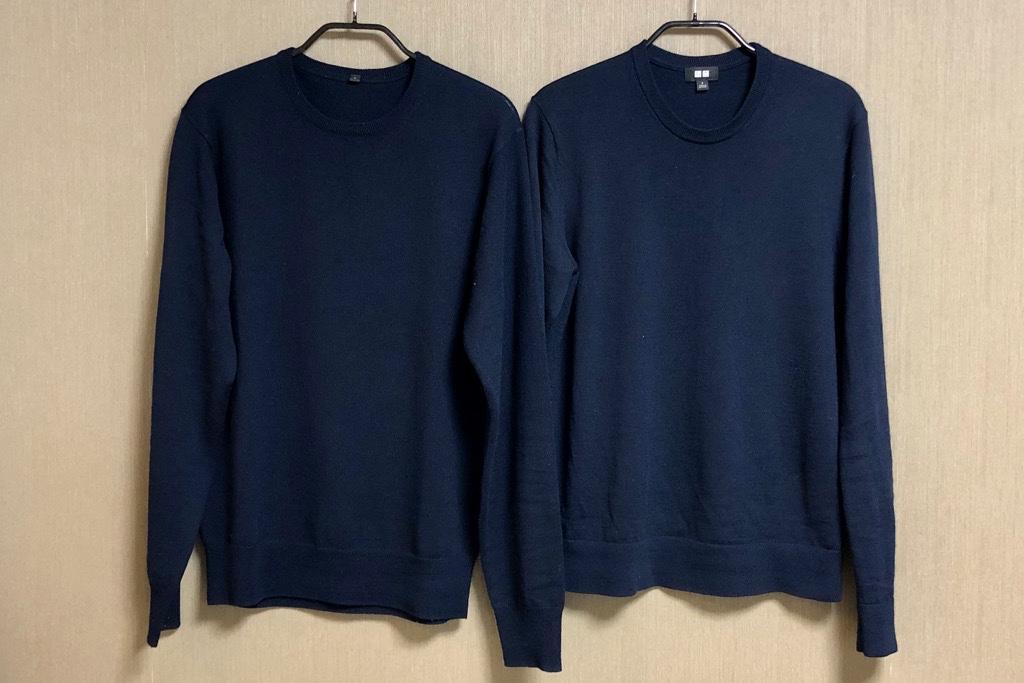 ユニクロと無印良品のメリノウールセーター