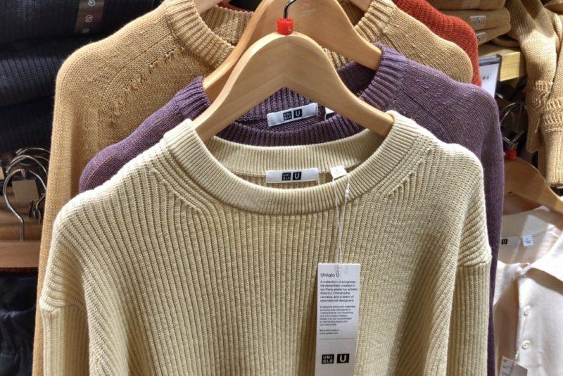 リブクルーネックセーター(長袖)