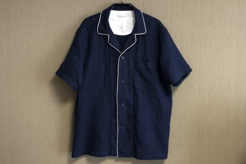 無印良品「脇に縫い目のない ワッフル織り半袖パジャマ」正面