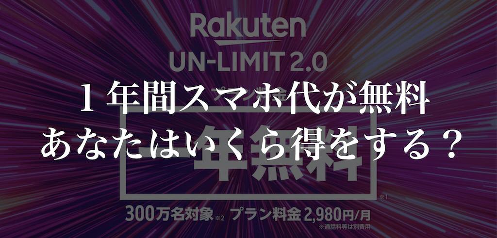 「Rakuten UN-LIMIT」のタイトル