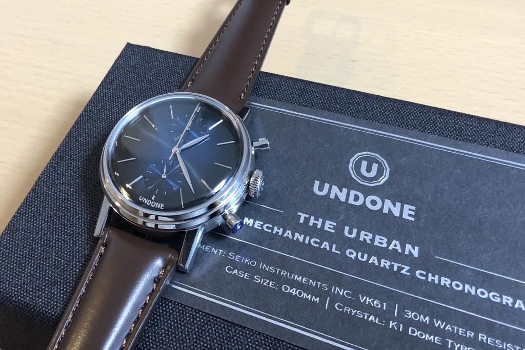UNDONEの時計ボックスとカスタマイズしたMYSTIQUE(茶革バンド)